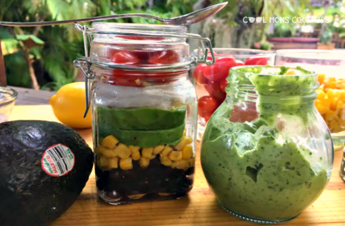 on the go avocado beach salad cool moms cool tips