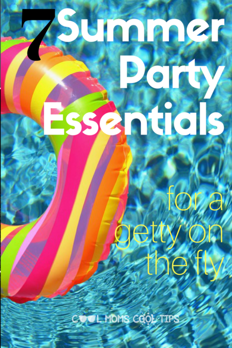 hosting a summer last minute party? here are the essentials for a cool shindig! make your party pop with little effort!