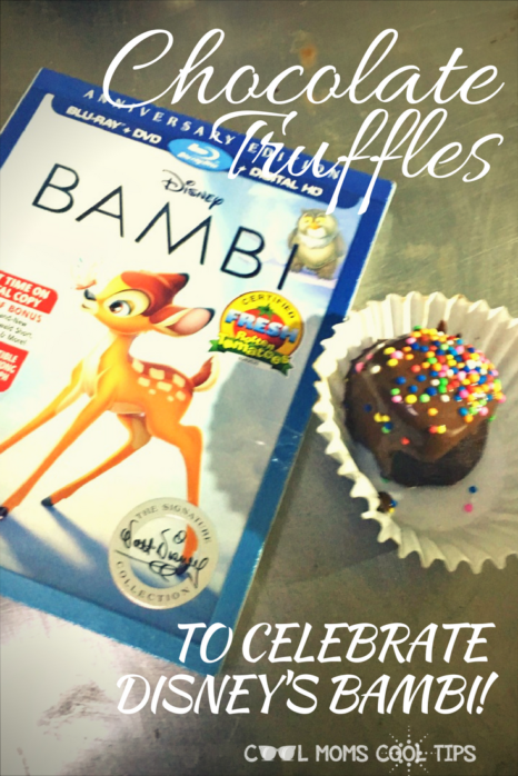 Need ideas for a movie night? We have a chocolate truffle recipe you will love! We made it to celebrate Disney's Bambi