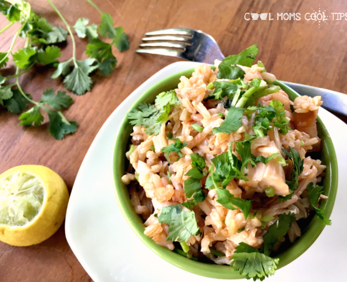 Easy Cilantro Chicken Rice Bowl Recipe