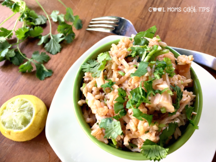 cilantro chicken rice bowl cool moms cool tips