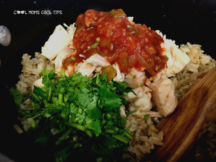 making cilantro chicken rice bowl cool moms cool tips