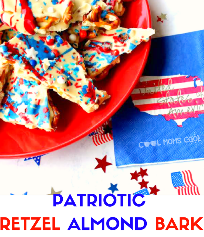 Easy Patriotic Pretzel Almond Bark Recipe