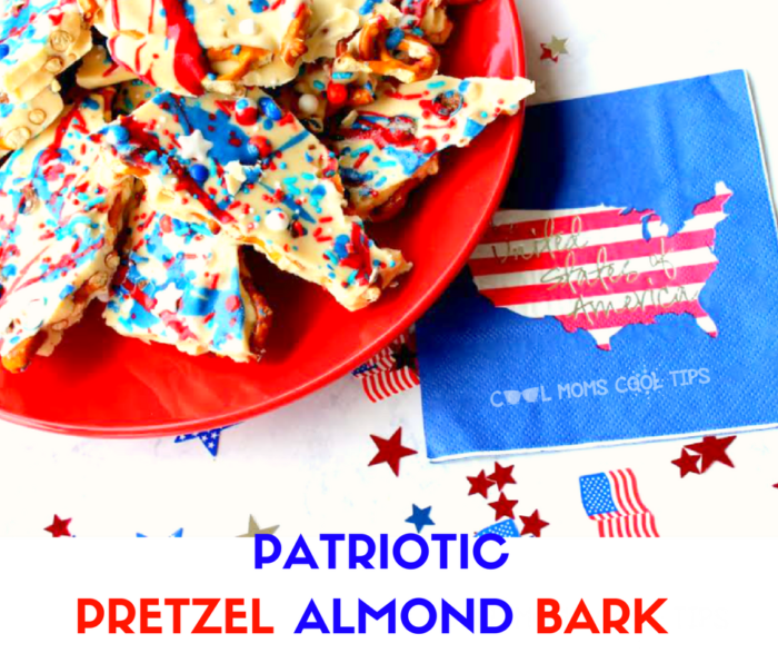 pretzel almond bard easy delicious and very patriotic dessert!