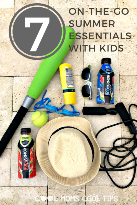 need ideas on what you need on the go with kids this summer?  We have a 7 item essential list for you!