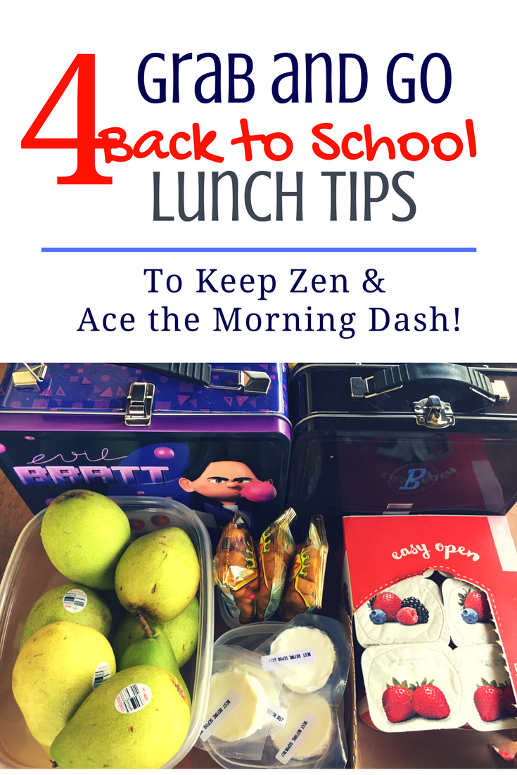 4 grab and go back to school lunch tips