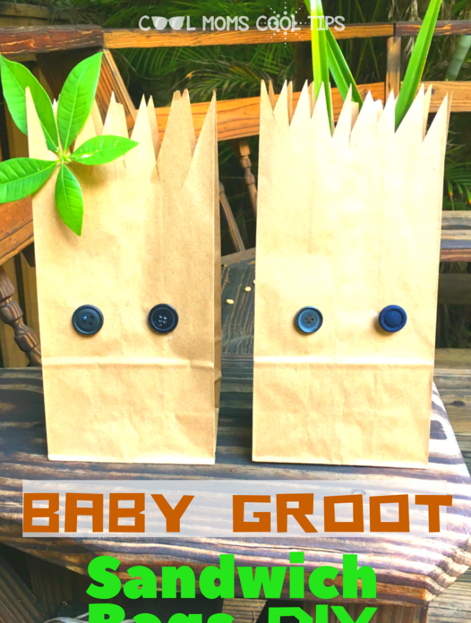 Baby Groot Sandwich Bag DIY