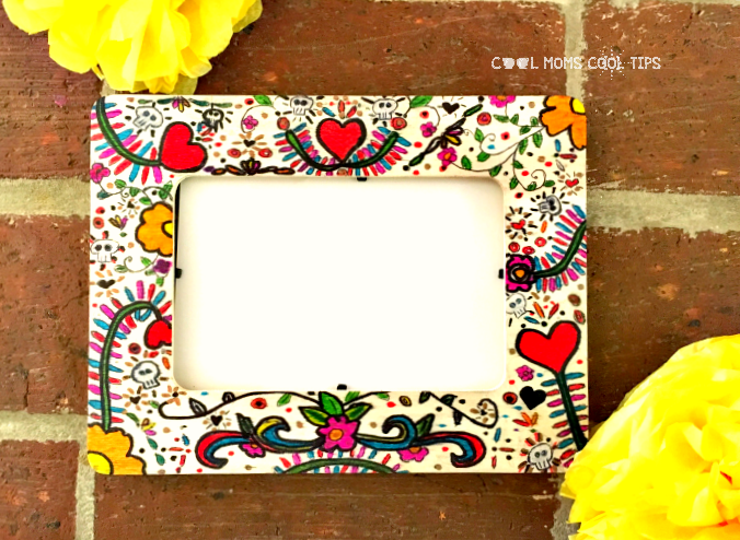 DIY Photo Frame For The Day of The Dead Ofrenda Altar cool moms cool tips