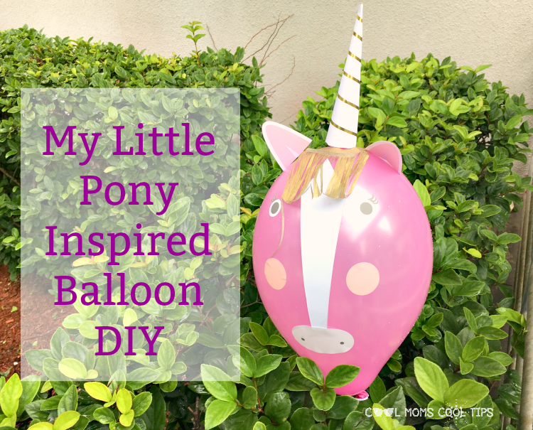 my little pony inspired balloon diy cool moms cool tips