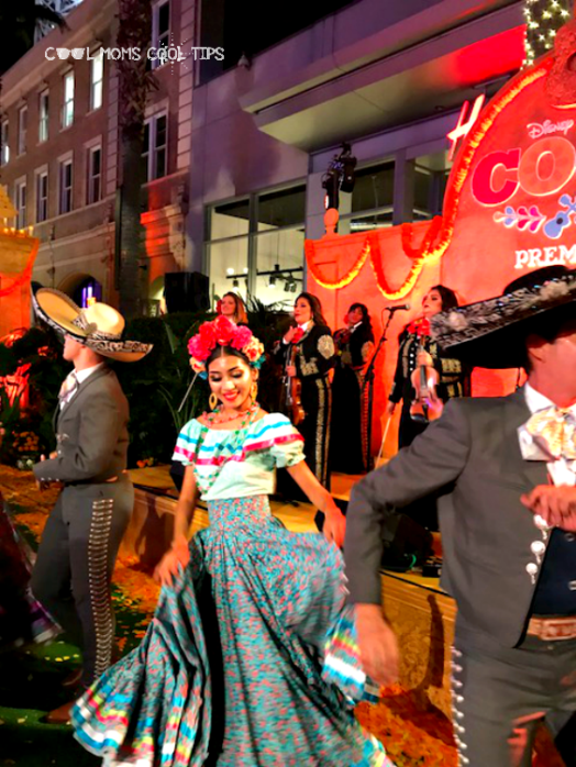dancing at the coco movie premiere cool