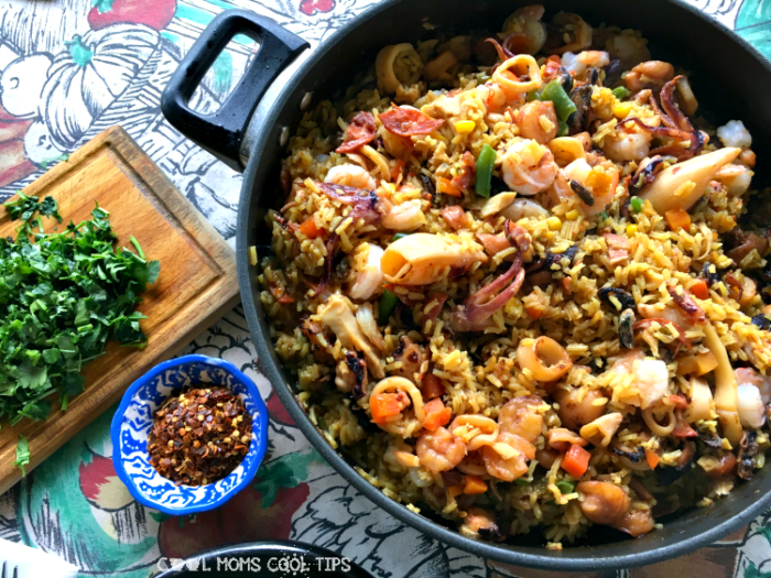 easy and delicious seafood paella recipe cool moms cool tips