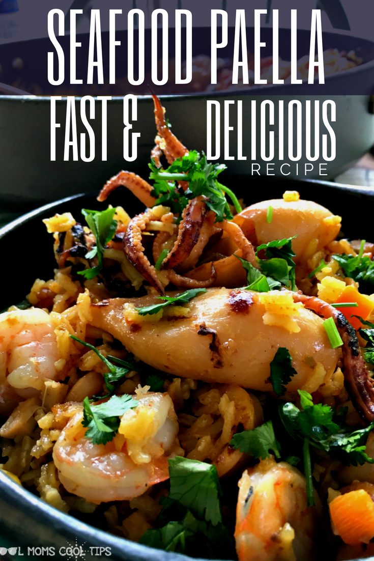 the best seafood paella fast and delicious recipe cool moms cool tips