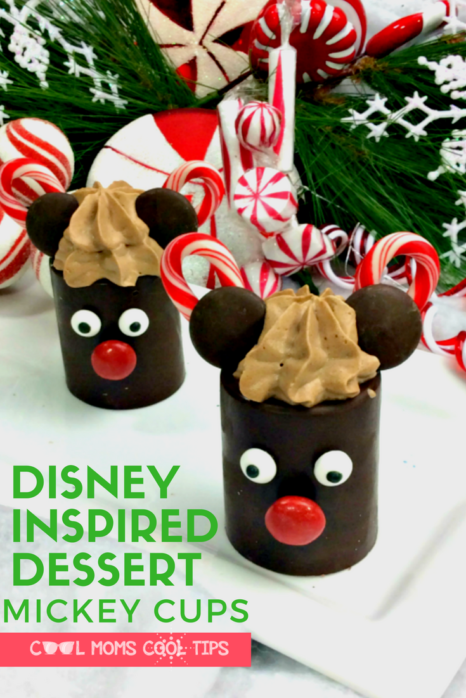 Celebrate with a delicious and fun to make Disney Inspired Dessert.  We have the full recipe to make Mickey Moussse filled cups that are adorable!