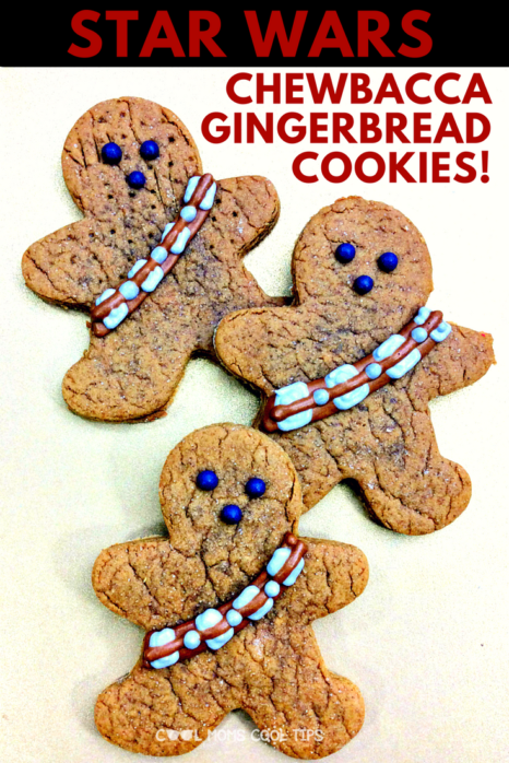 Planning a Star Wars Celebration? Get these Epic Chewbacca Ginger bread cookie recipe from a galaxy far far away! Perfect to celebrate any Star Wars fan or have a Force Awakens of Return of the Jedi viewing party!