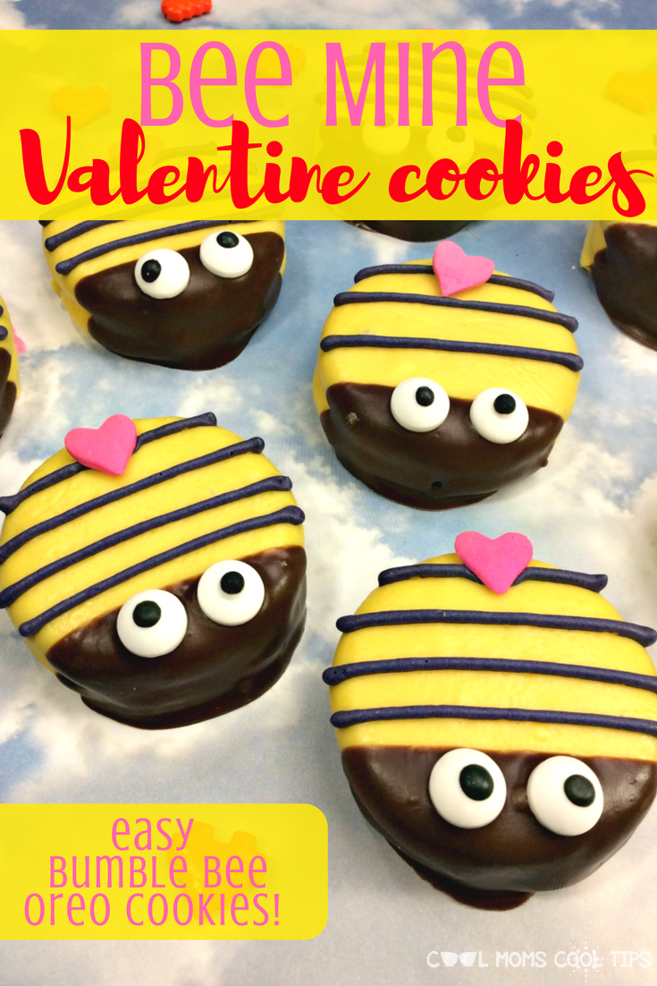 Need an easy treat for Valentine's Day? Make these adorable sweet easy to make Bumble Bee Oreo Cookies. They are great for any celebration. On Valentine's Use them to make a bee line to your Valentine's Heart! Great for class parties and much more