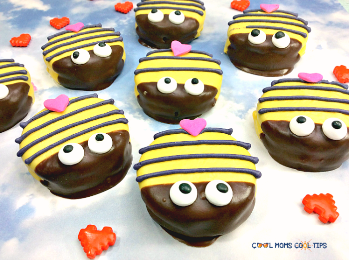 bee mine bumble bee cookies for valentine's day