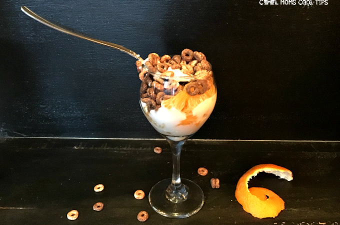 perfect snack or breakfast cereal parfait