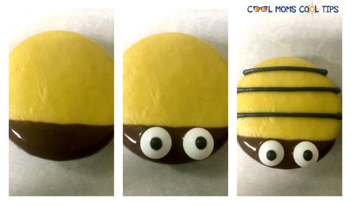 easy to make bumble bee oreo cookies