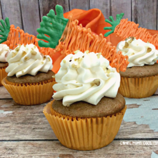 Decorated Carrot Cake Cupcake with Candy Carrot Topper cool moms cool tips