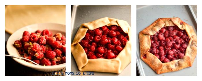 Easy Raspberry Galette process