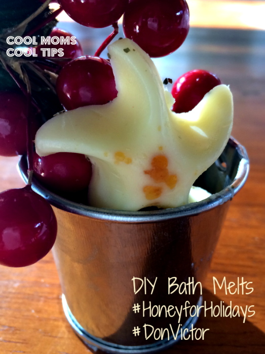 cool moms cool tips  #HoneyforHolidays #DonVictor #ad DIY Bath Melts to gift