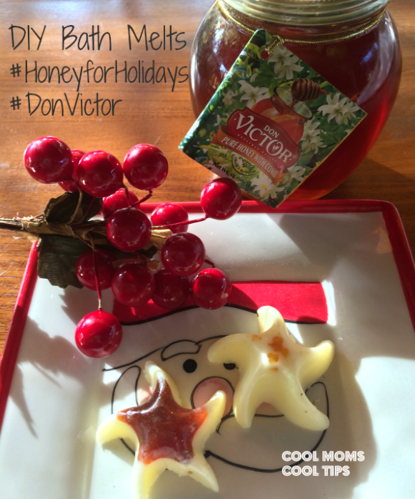 cool moms cool tips #HoneyforHolidays #donVictor #ad DIY Bath Melts made with honey