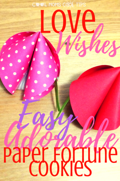 Give Love Wishes on Valentines day with this easy and adorable paper fortune cookies!