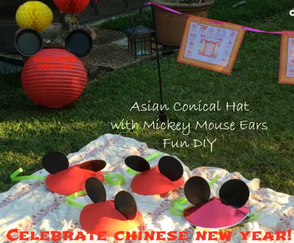 asian-conical-hats-with-mickey-ears-cool-moms-cool-tips #DisneySide -chinese-new-year-Celebration