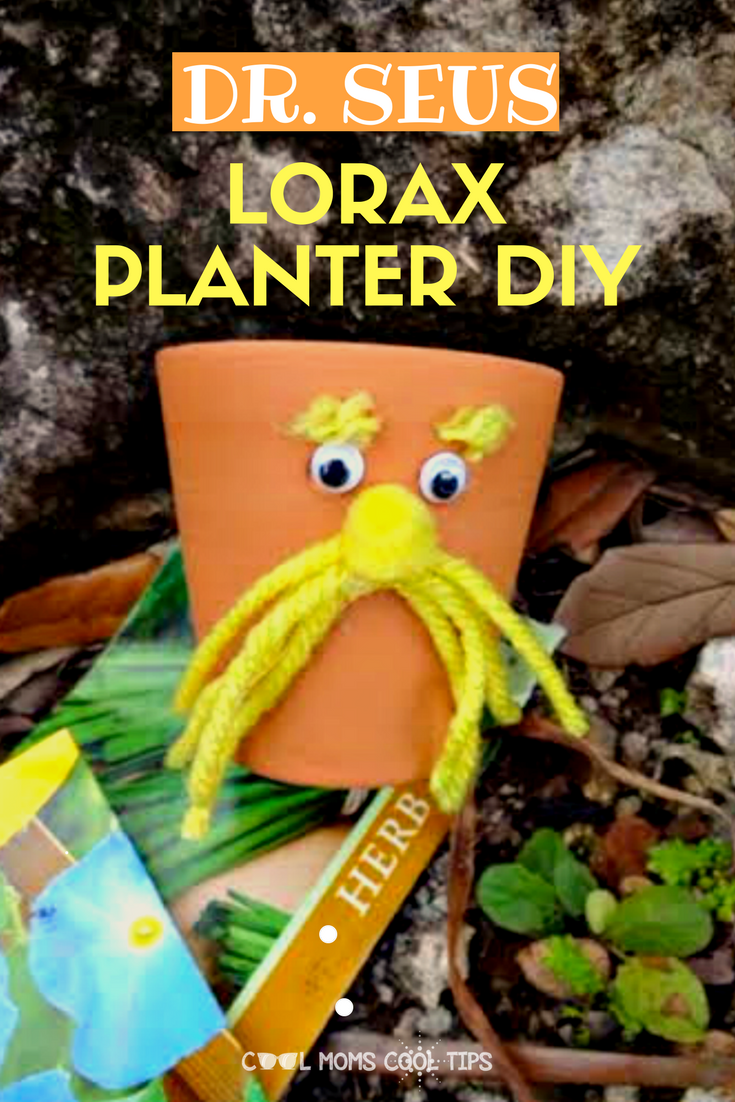 Want to inspire and motivate the children to read? celebrate Dr. Seus' birthday with and easy and fun Lorax Planter DIY. Perfect for gifting too