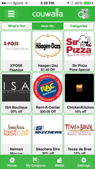 Geo coupons app