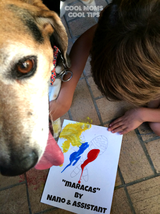 maracas-doggie-painting-cool-moms-cool-tips #amorbeneful #ad