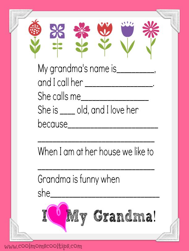 photo regarding All About My Grandma Printable known as Grandparents Working day Occasion and Printable - Amazing Mothers Neat Pointers