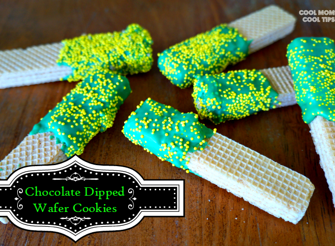 chocolate dipped wafer cookies to celebrate saint patricks day cool moms cool tips