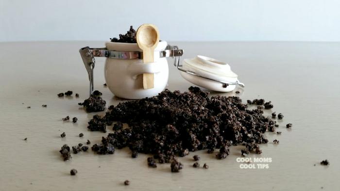coffee scrub cool moms cool tips
