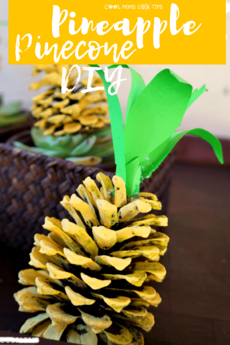 Looking for a fun way to enhance your summer decor? Have a Hawaiian themed party? Want a fun easy craft to do with the kids? Try our Pineapple Pinecone DIY!