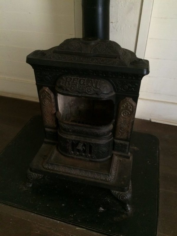 A warming stove at Blue Spring State Park