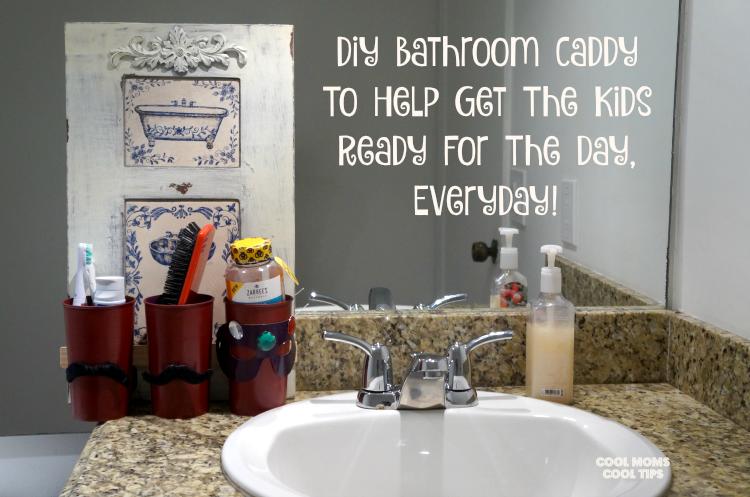 diy bathroom caddy cool moms cool tips #beeyuckfree #ad ready