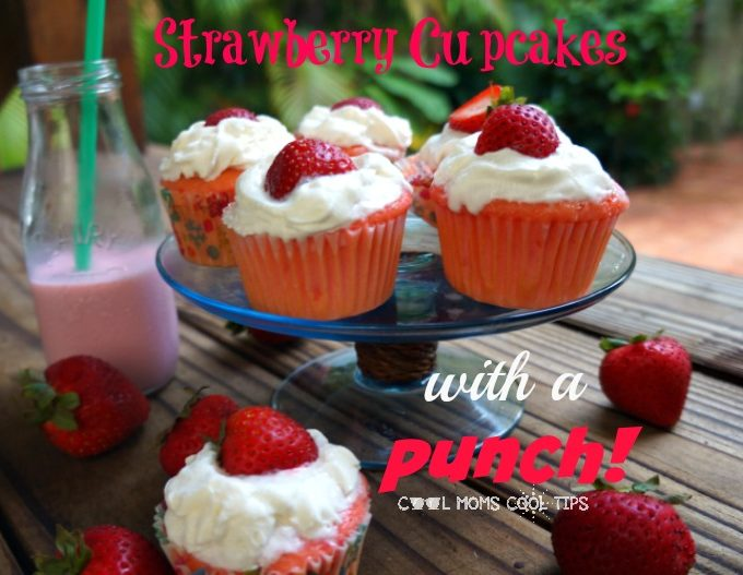 strawberry cupcakes with a punch for snack cool moms cool tips #ad