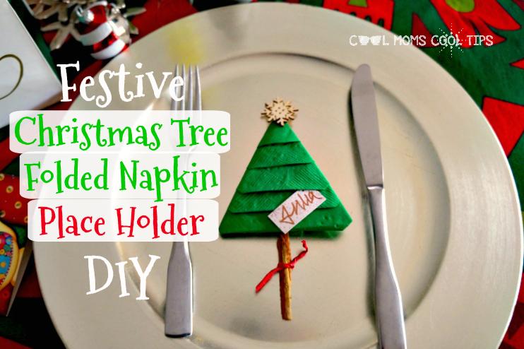 Fold Napkin Like Christmas Tree.A Party Hosting Table Decor Idea Christmas Tree Folded