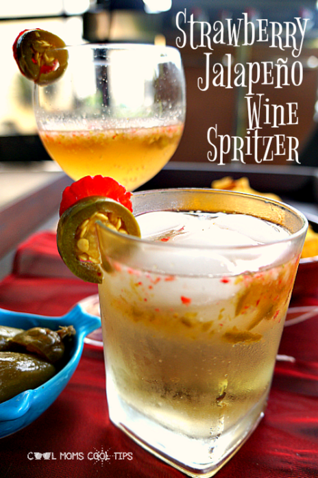 strawberry jalapeno wine spritzer cool moms cool tips