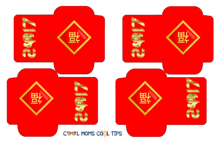 chinese new year lucky envelope printable