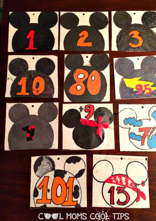 easy Disney Inspired Race Bib DIY