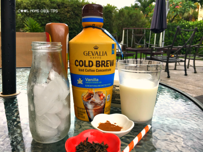 Iced Mexican Coffee with Dulce de Leche ingredients cool moms cool tips