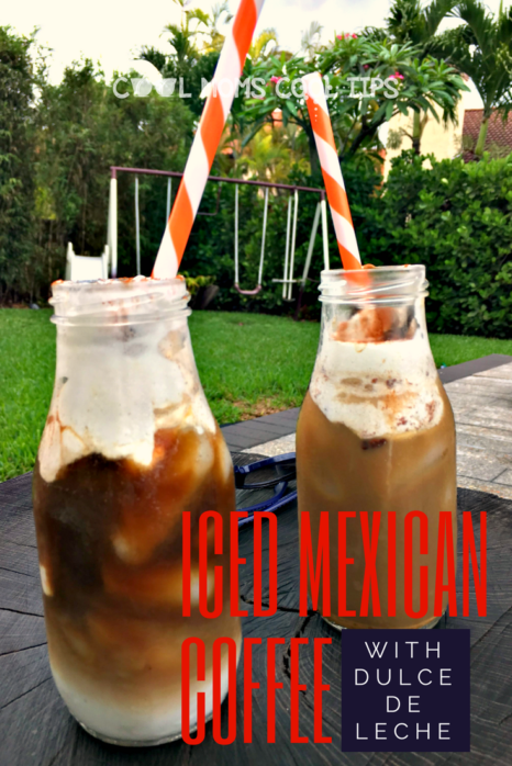 Looking for a refreshing and delicious summer coffee drink? try this iced mexican coffee with dulce de leche