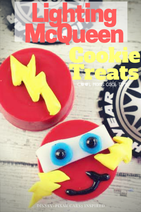 celebrate all things cars with these delicius and adorable #96 Lighting McQueen Disney inspired cookie treats!