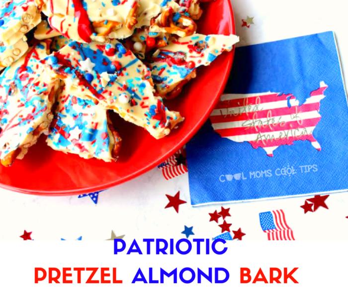 pretzel almond bard easy delicious and very patriotic dessert!