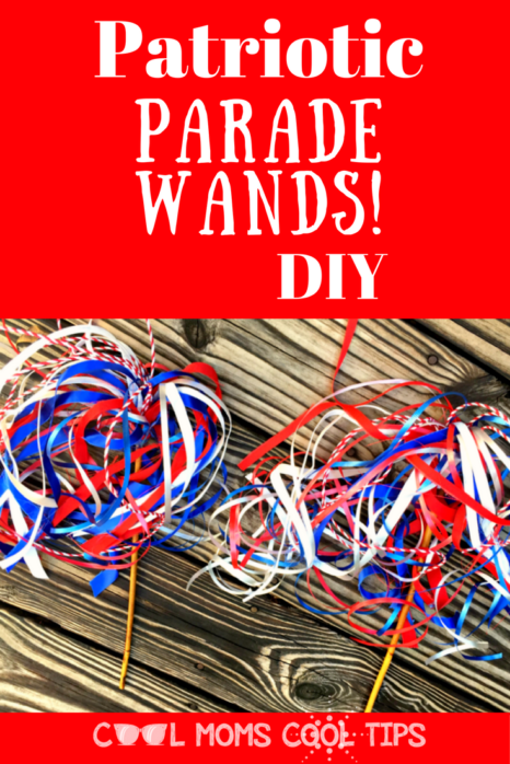 Looking for something different for your patriotic celebrations? headed to a fourth of july parade? make these cool and easy patriotic parade wands!