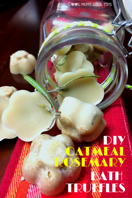 have a decadent me time with easy to make diy oatmeal rosemary bath truffels