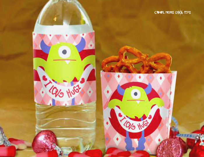 Valentine Free Printables_ Monster Bottle Labels and Treat Box Printables