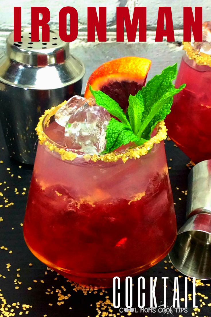 celebrate marvel superheroes with a delicious ironman inspired cocktail. We have the easy ironman drink recipe for you. go Avengers! fangirls will love it